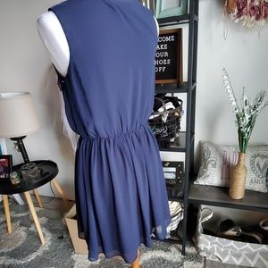 BCX Dresses - Navy blue midi dress